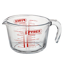 Buy Pyrex 1L Glass Measuring Jug Online at johnlewis.com