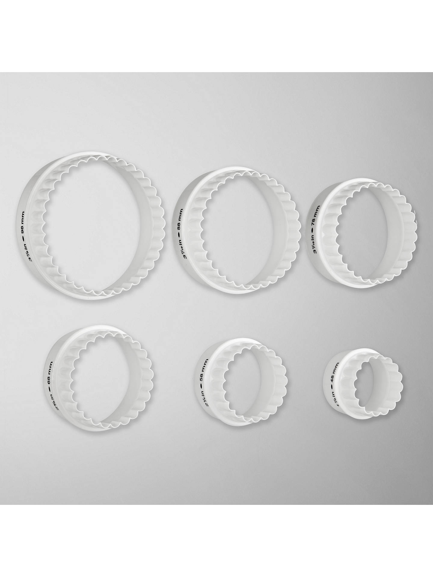 Buy John Lewis & Partners Double Sided Cookie & Pastry Cutters, Set of 6 Online at johnlewis.com