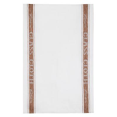 John Lewis Linen Glass Cloth White / Natural
