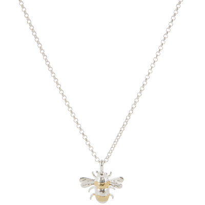 Martick Silver & Gold Plated Bee Pendant Necklace