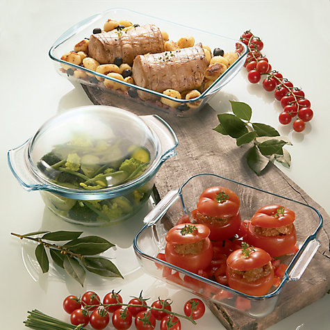 Buy Pyrex Easy Grip Glass Round Casserole Oven Dish, 3.5L Online at johnlewis.com
