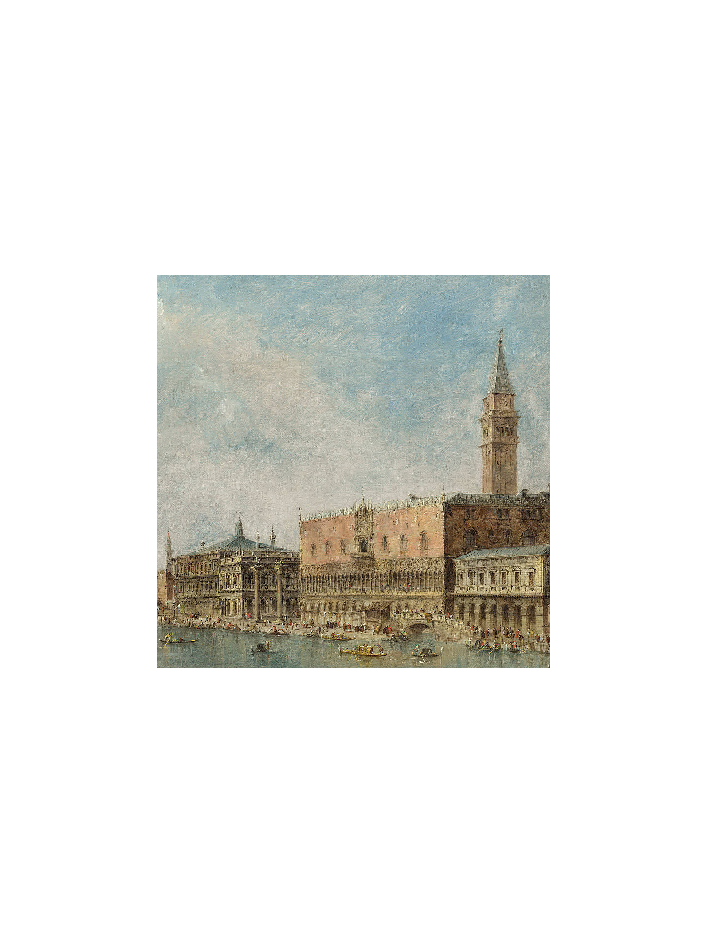 Buy Canaletto- The Basin of San Marco on Ascension Day 1, Stretched Canvas, 40 x 40cm Online at johnlewis.com