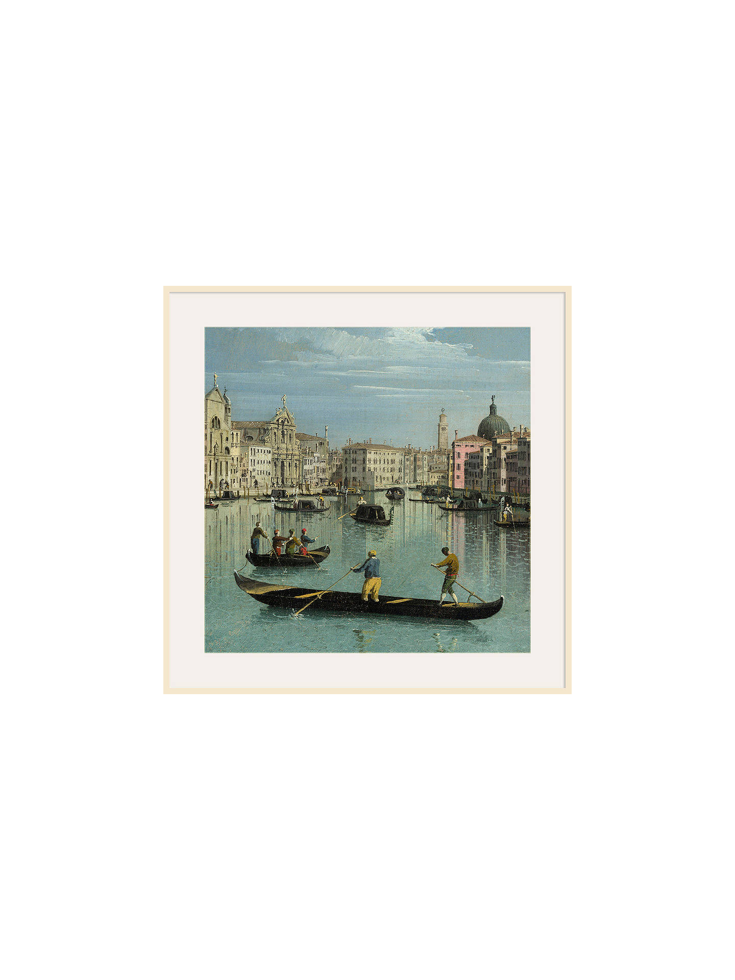 BuyCanaletto- The Grand Canal Facing Santa Croce 1, Natural Ash Framed Print, 40 x 40cm Online at johnlewis.com