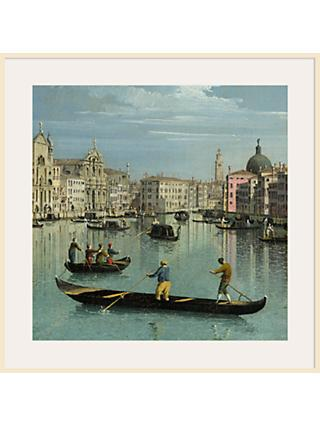 Canaletto- The Grand Canal Facing Santa Croce 1