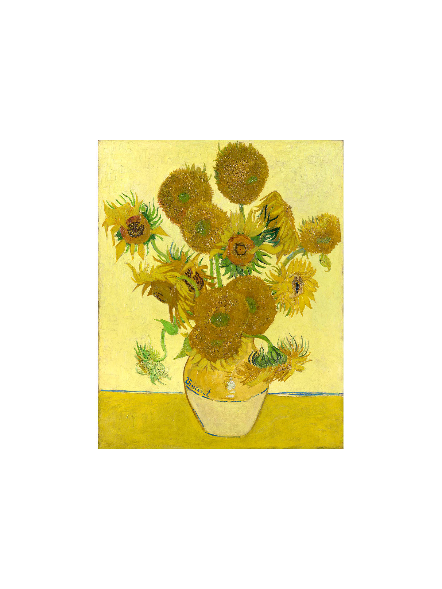 BuyVincent Van Gogh- Sunflowers, Stretched Canvas, 40 x 50cm Online at johnlewis.com