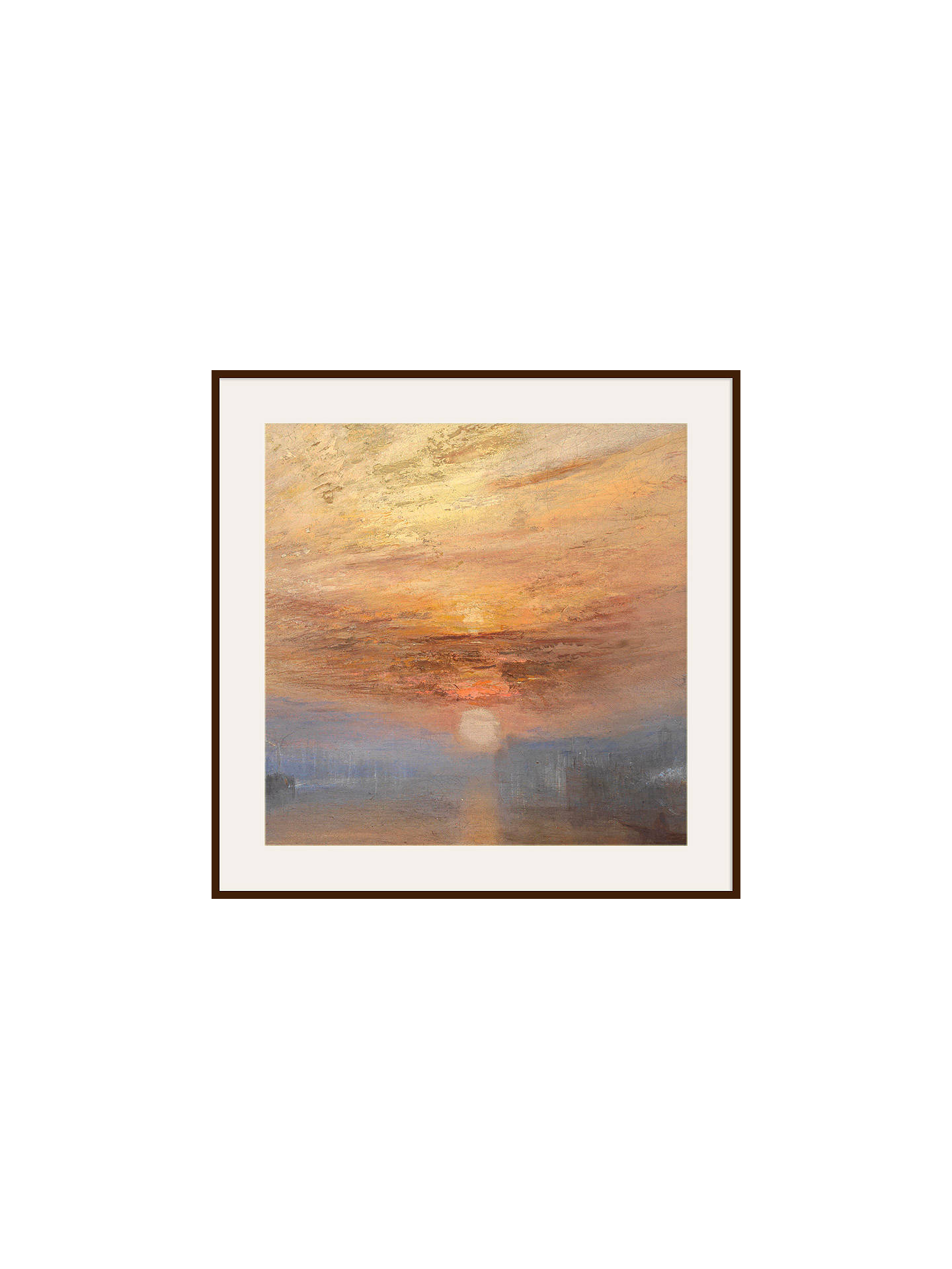 BuyJoseph Mallord William Turner - The Fighting Temeraire 1, Dark Brown Framed Print, 90 x 90cm Online at johnlewis.com