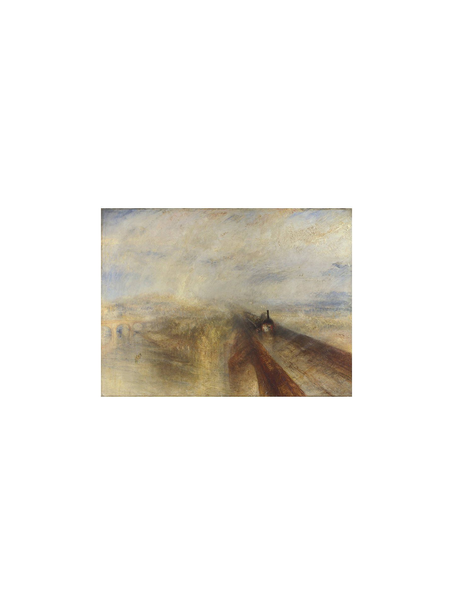 Buy Joseph Mallord William Turner- Rain, Steam and Speed, Stretched Canvas, 40 x 50cm Online at johnlewis.com