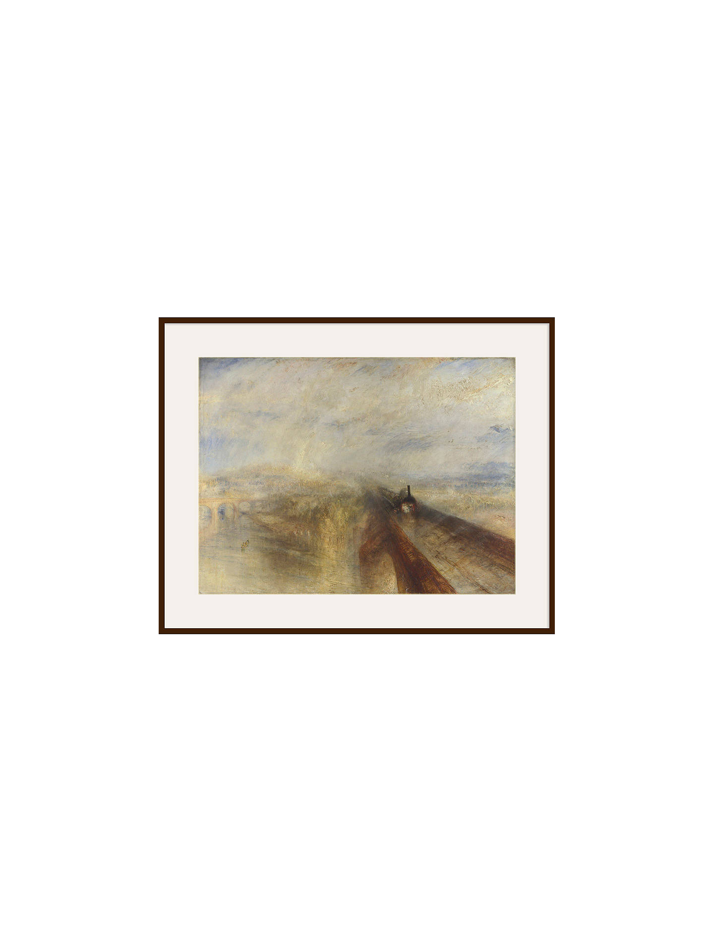 Buy Joseph Mallord William Turner- Rain, Steam and Speed, Dark Brown Framed Print, 40 x 50cm Online at johnlewis.com