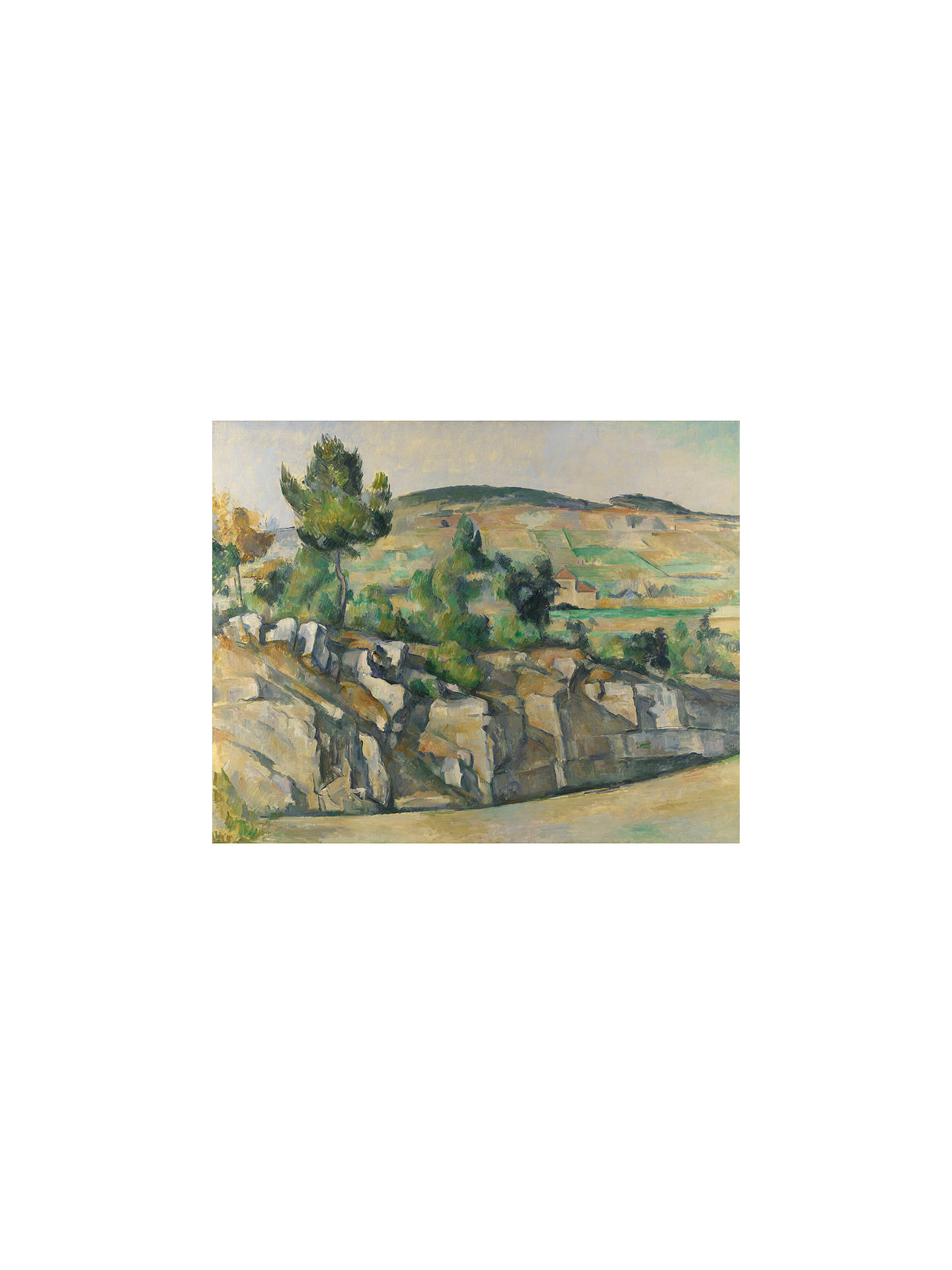 Buy Paul Cezanne- Hillside in Provence, Stretched Canvas, 40 x 50cm Online at johnlewis.com