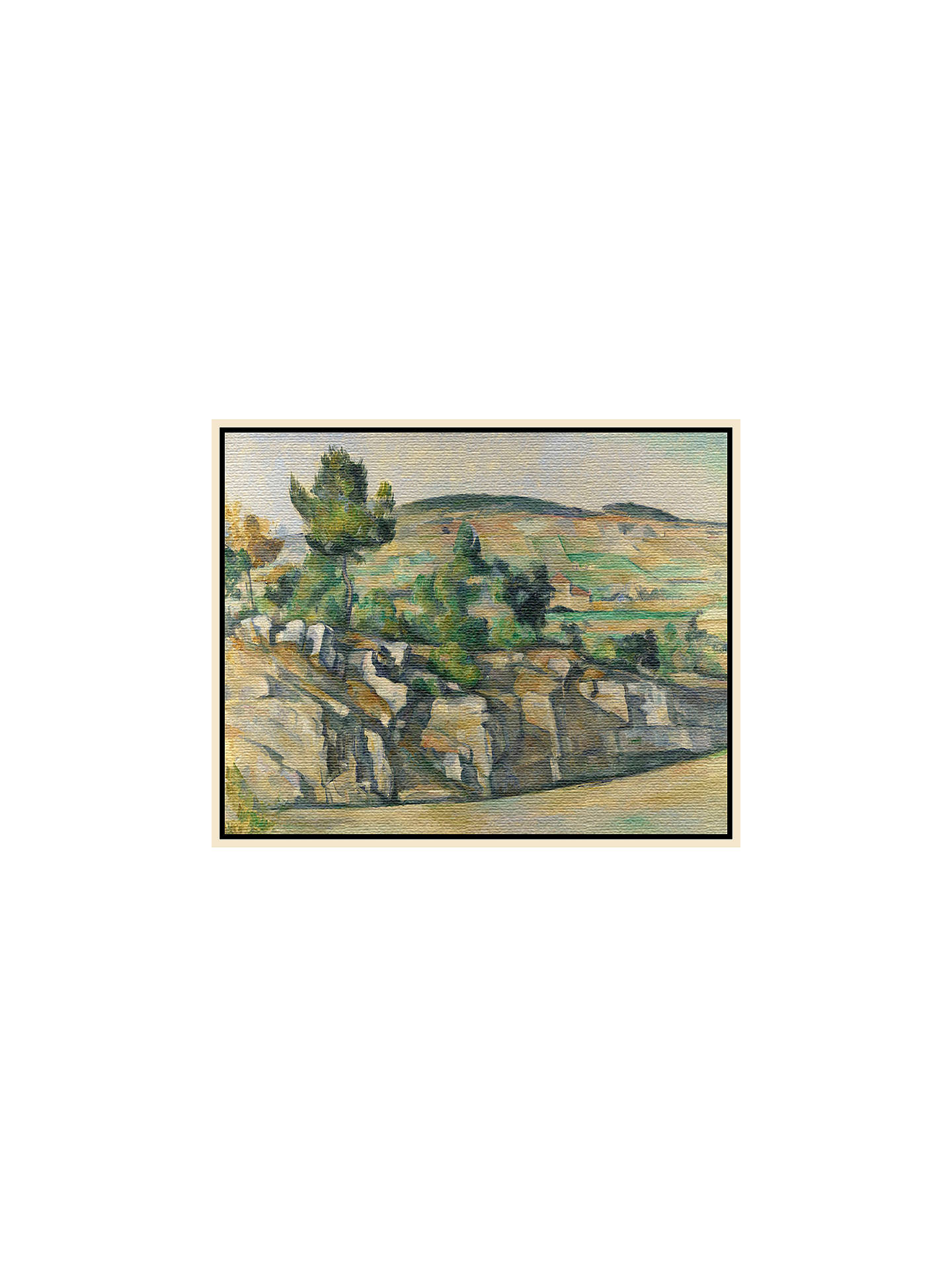 BuyPaul Cezanne- Hillside in Provence, Natural Ash Framed Canvas, 40 x 50cm Online at johnlewis.com
