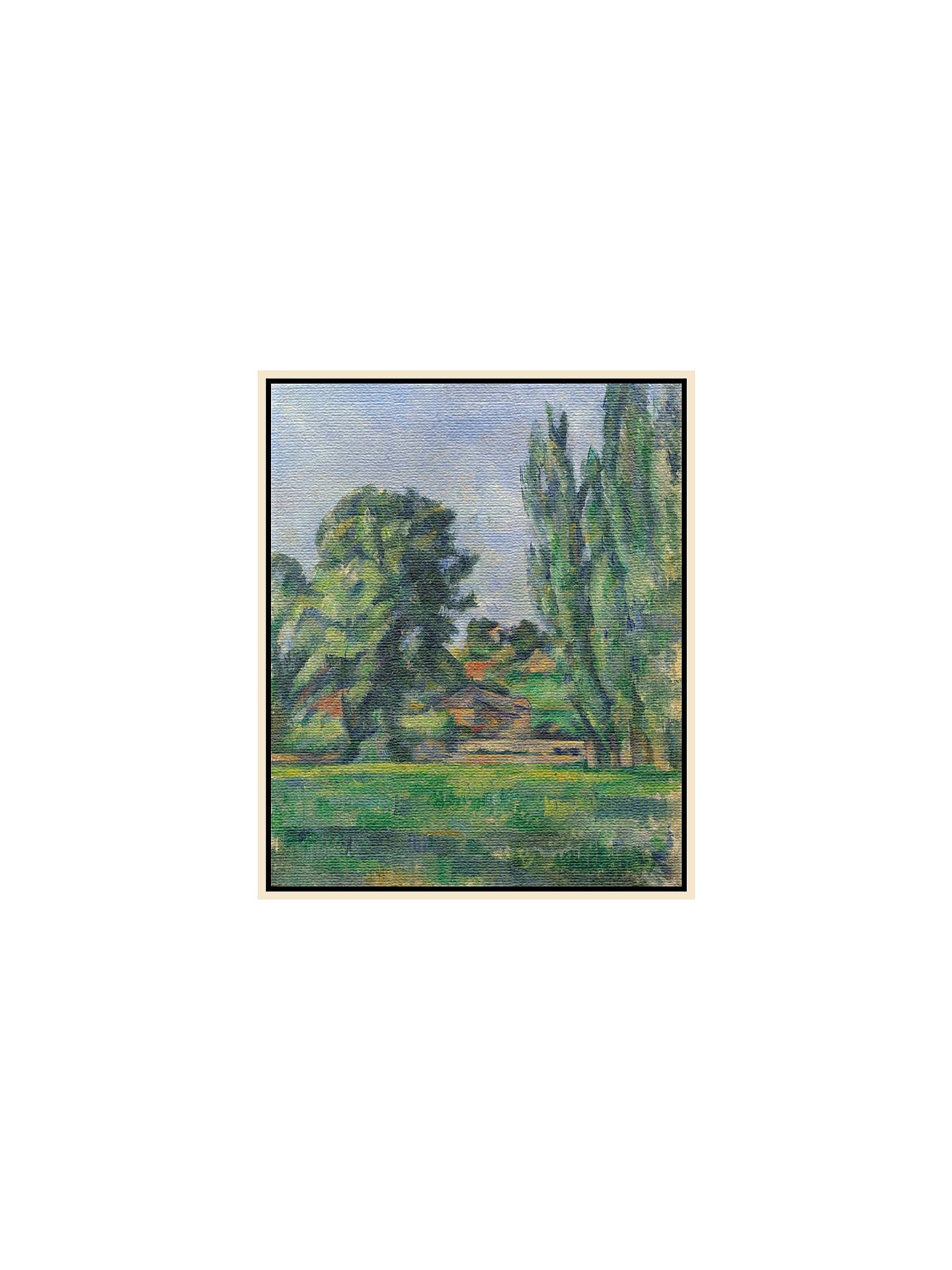 BuyPaul Cezanne- Landscape with Poplars, Natural Ash Framed Canvas, 82 x 110cm Online at johnlewis.com