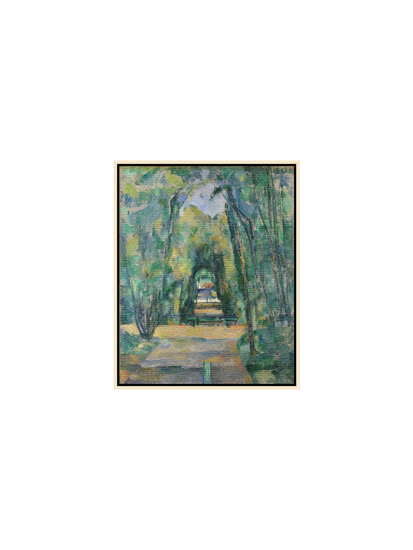 Buy Paul Cezanne- Avenue at Chantilly, Natural Ash Framed Canvas, 82 x 110cm Online at johnlewis.com