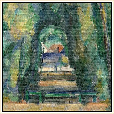Paul Cezanne- Avenue at Chantilly 1