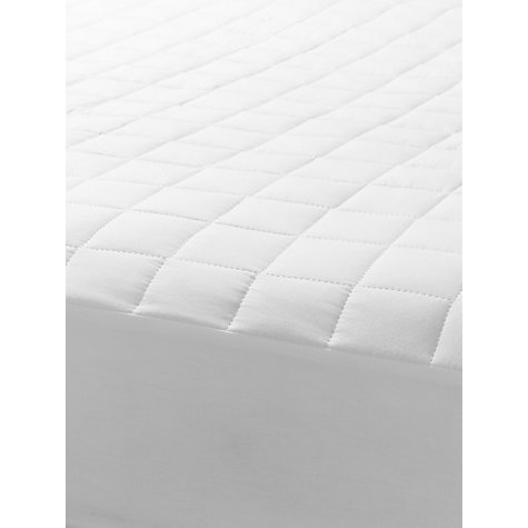 Buy John Lewis Cotton Quilted Mattress Protector, Depth 32cm Online at johnlewis.com