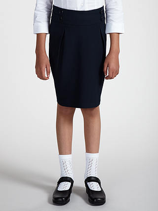 Buy John Lewis & Partners Girls' Pencil School Skirt, Blue, 10 years Online at johnlewis.com