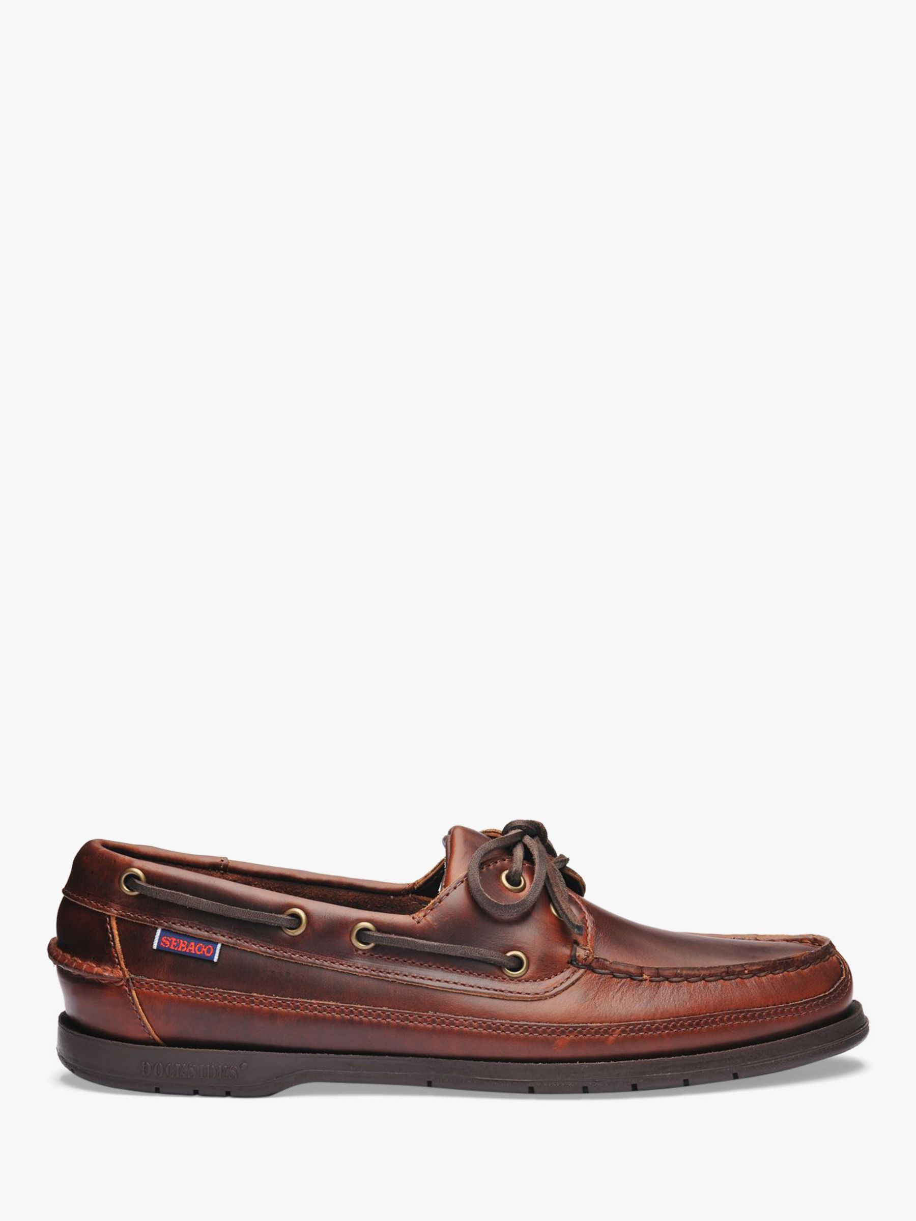 Sebago Sebago Schooner Leather Boat Shoes, Brown
