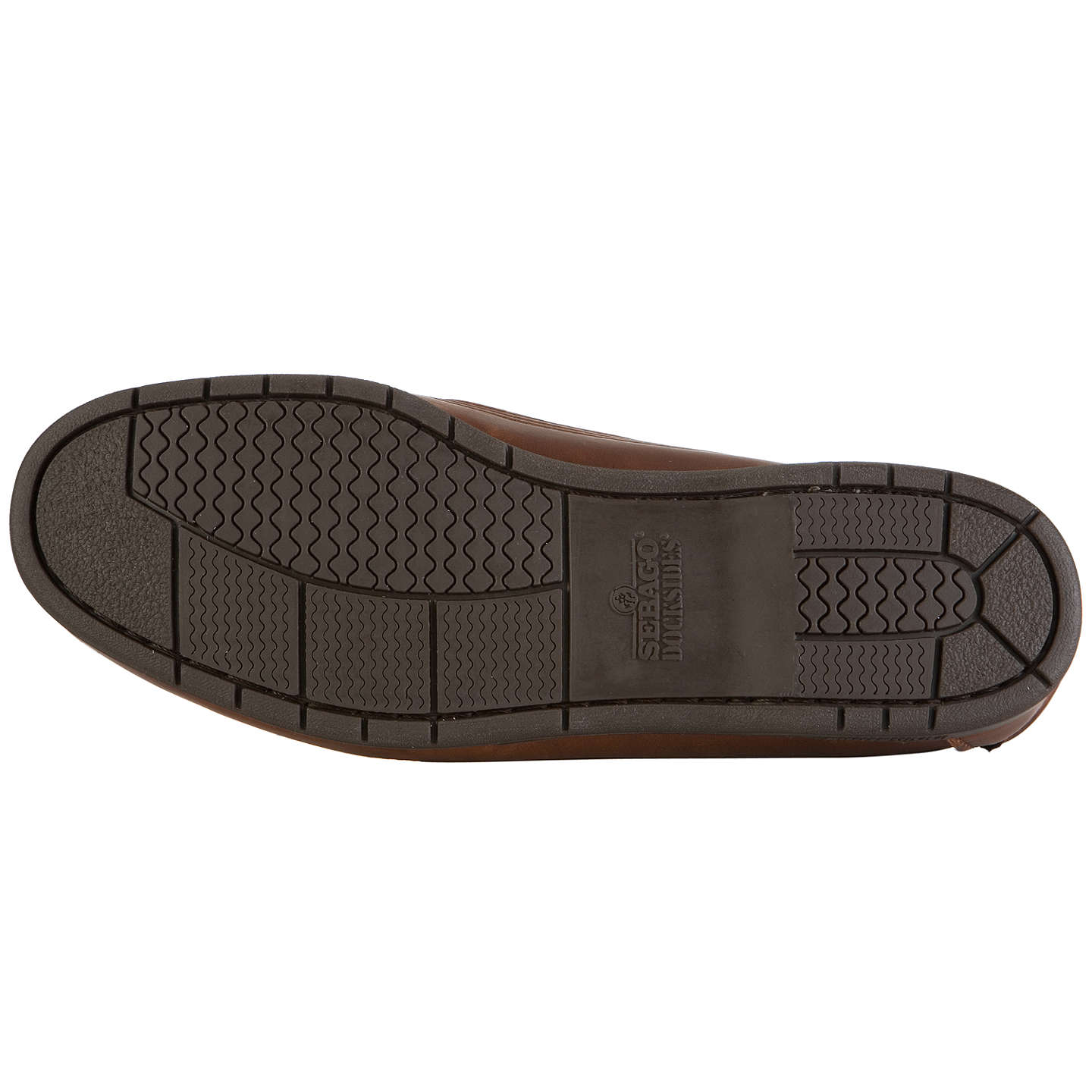 BuySebago Schooner Leather Boat Shoes, Brown, 7 Online at johnlewis.com