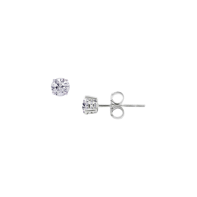 Ewa 18ct White Gold Diamond Stud Earrings Online At Johnlewis