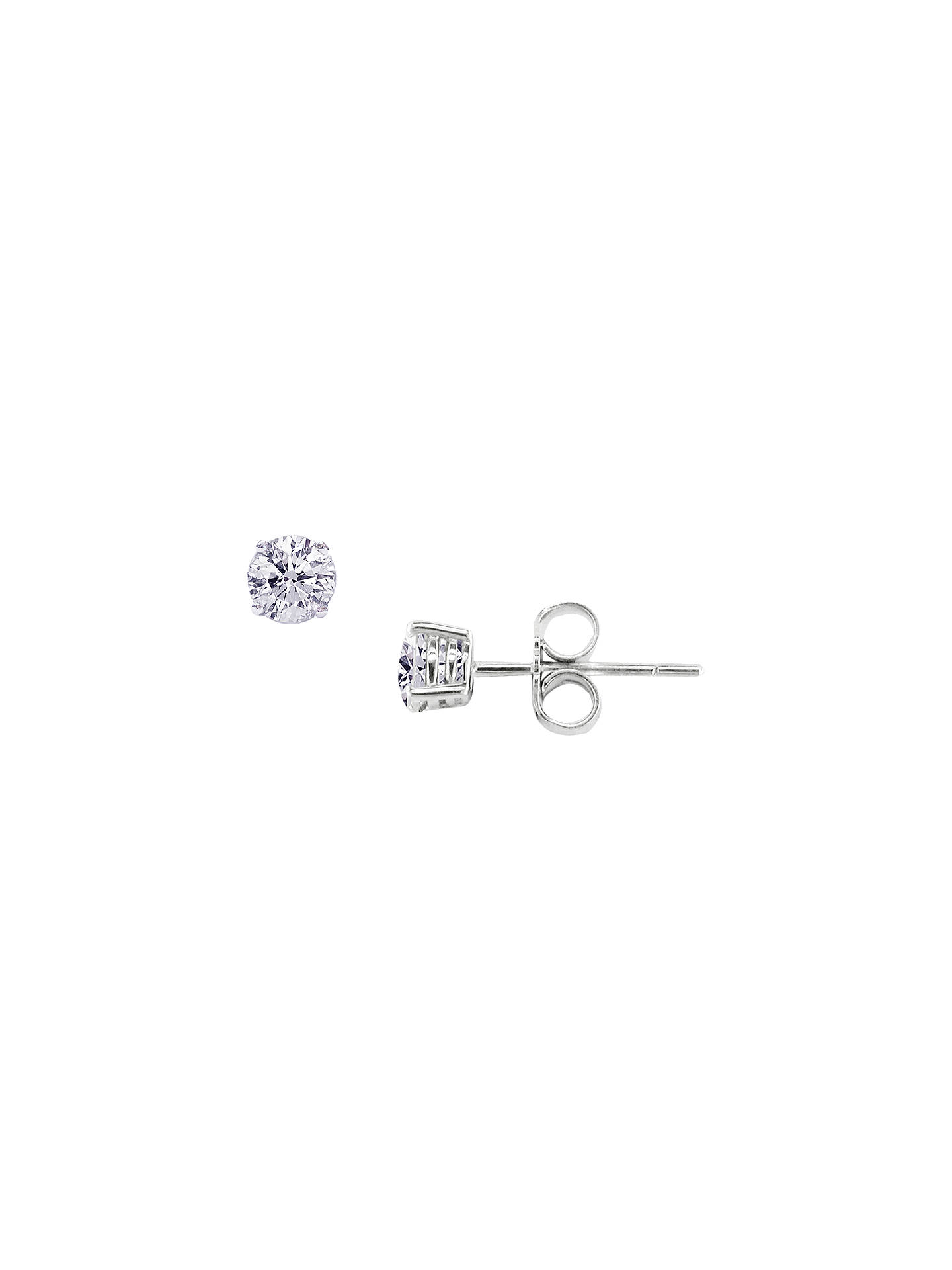 Ewa 18ct White Gold Diamond Stud Earrings Online At Johnlewis