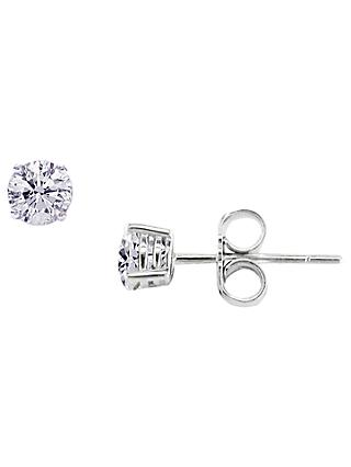 E.W Adams 18ct White Gold Diamond Stud Earrings