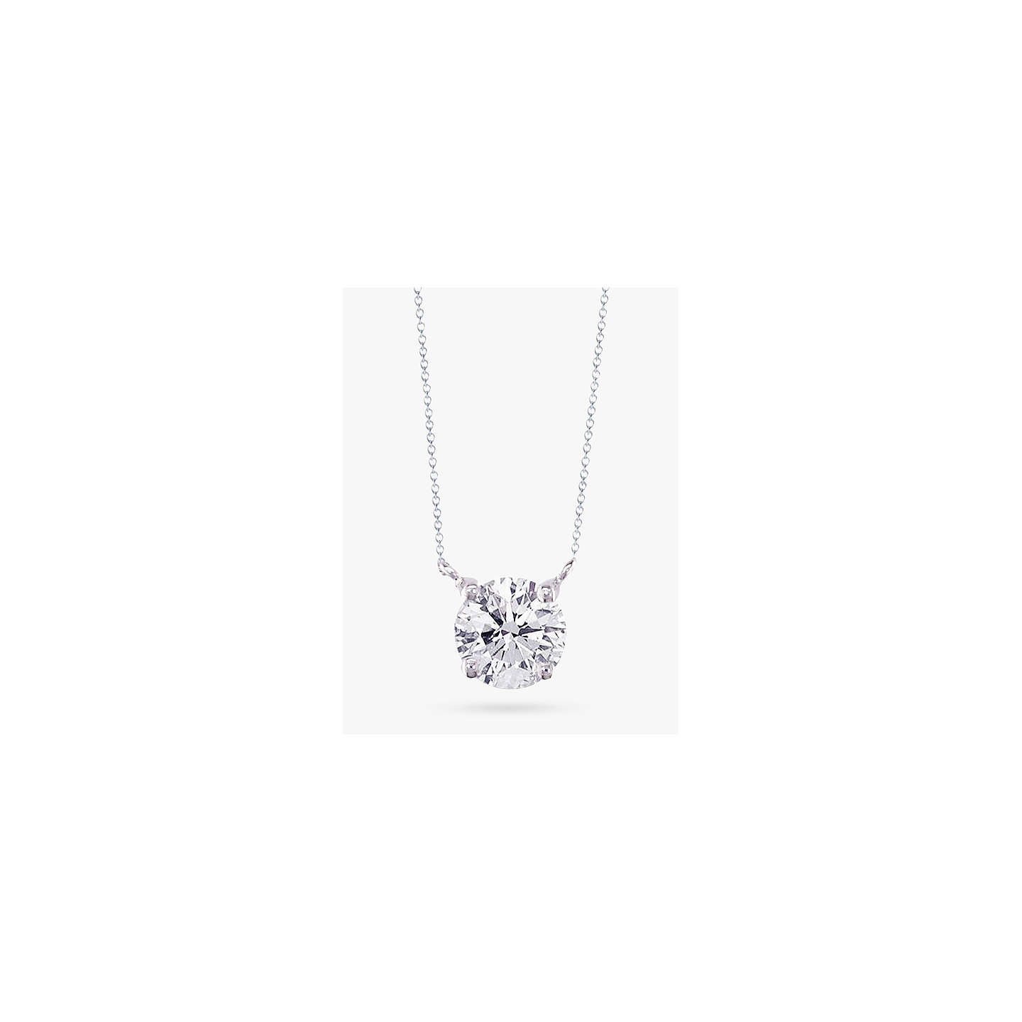 diamond solitaire solitare rox necklace