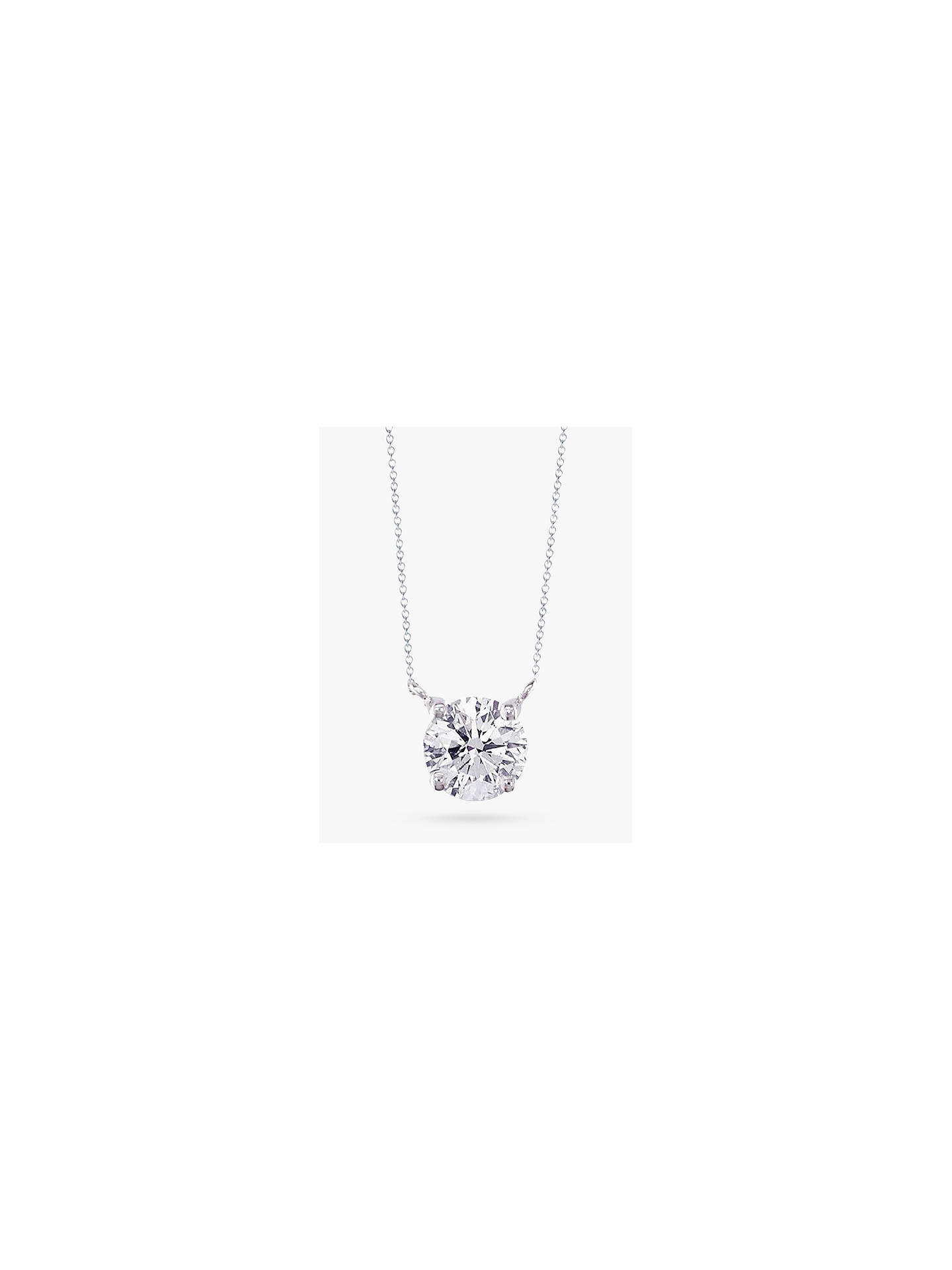 Buy E.W Adams 18ct White Gold Diamond Solitaire Pendant Necklace Online at johnlewis.com