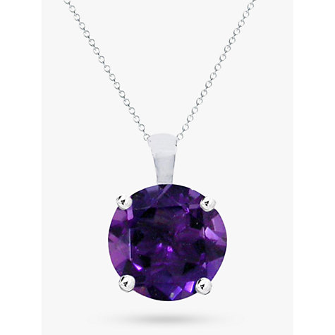 Buy ewa 9ct white gold amethyst pendant necklace purple john lewis buy ewa 9ct white gold amethyst pendant necklace purple online at johnlewis mozeypictures Image collections