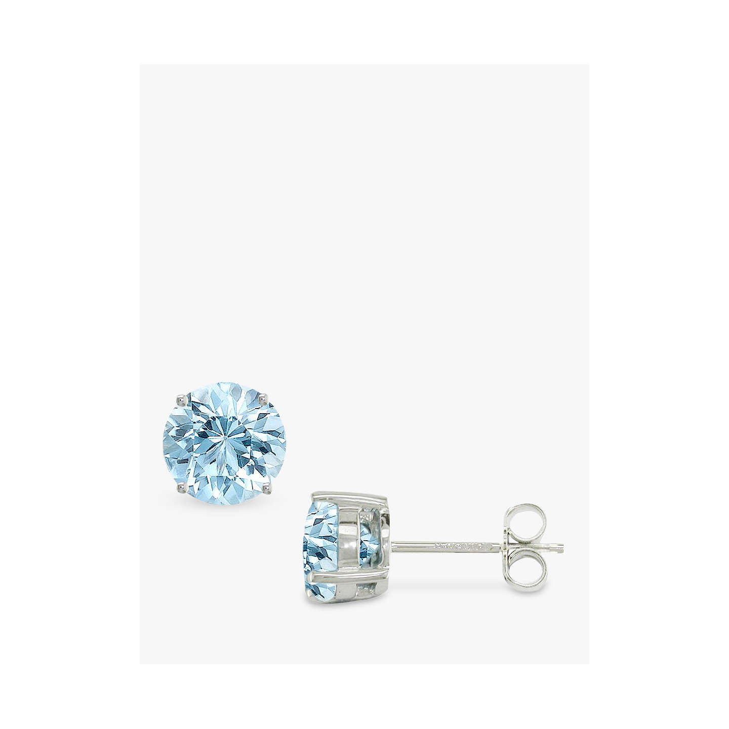 aquamarine square gold marine designers white earrings stud aqua