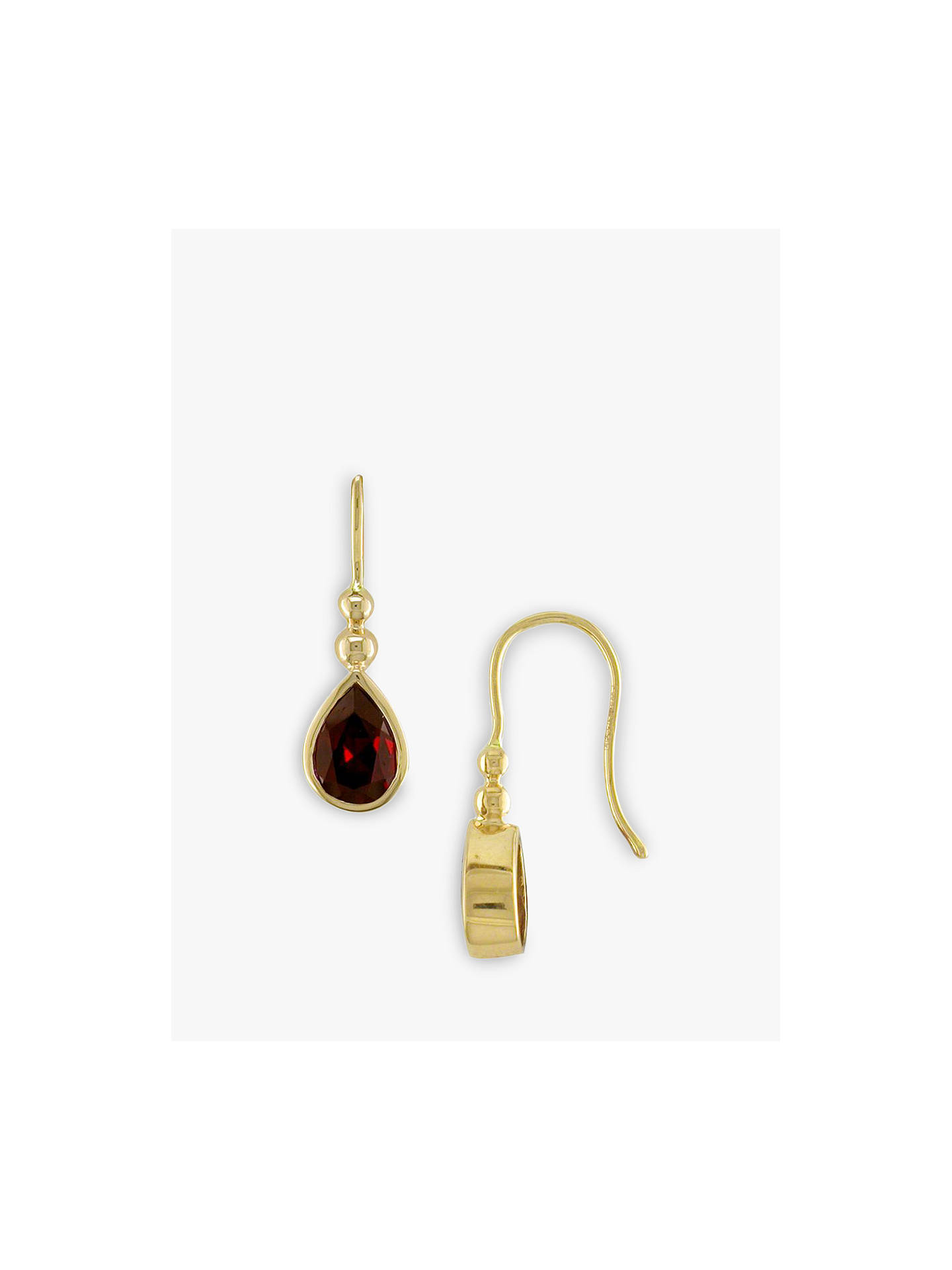 Buy E.W Adams 9ct Yellow Gold Garnet Bead Drop Earrings Online at johnlewis.com