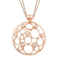 Buy London Road 9ct Rose Gold Diamond Bubble Pendant Necklace Online at johnlewis.com