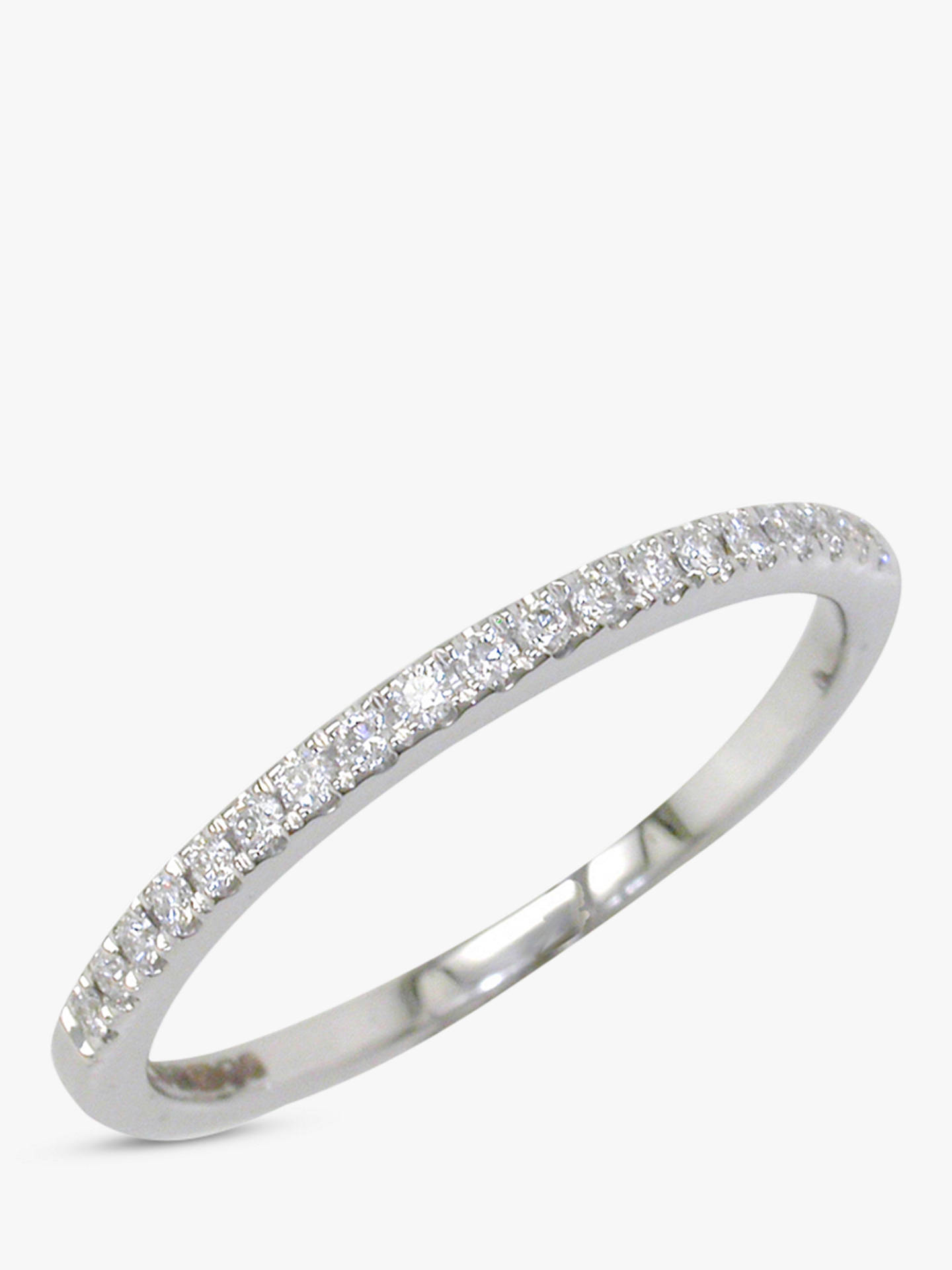 Buy E.W Adams 18ct White Gold Diamond Claw Set Eternity Ring, White Gold, M Online at johnlewis.com