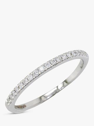 E.W Adams 18ct White Gold Diamond Claw Set Eternity Ring, White Gold