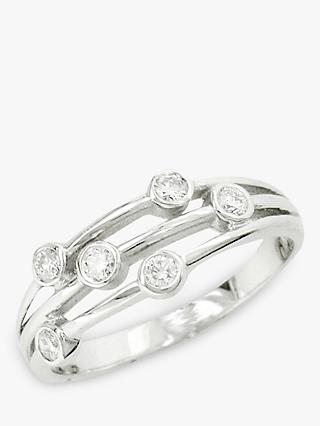 E.W Adams 18ct White Gold Diamond Ring, White Gold
