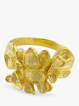 London Road 9ct Yellow Gold Leaf Ring, Gold