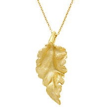 Buy London Road 9ct Gold Leaf Pendant Necklace Online at johnlewis.com