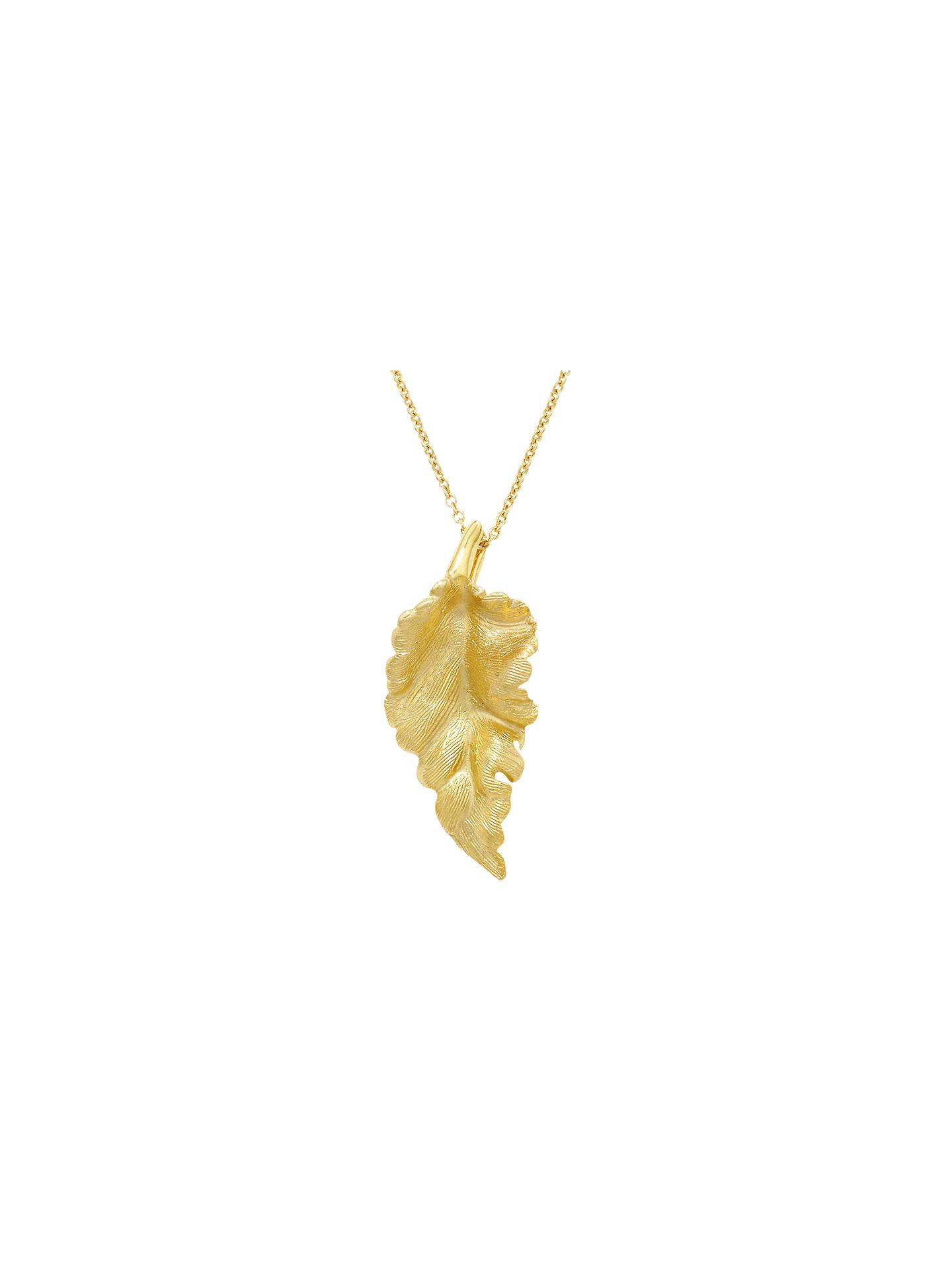 London Road 9ct Gold Leaf Pendant Necklace
