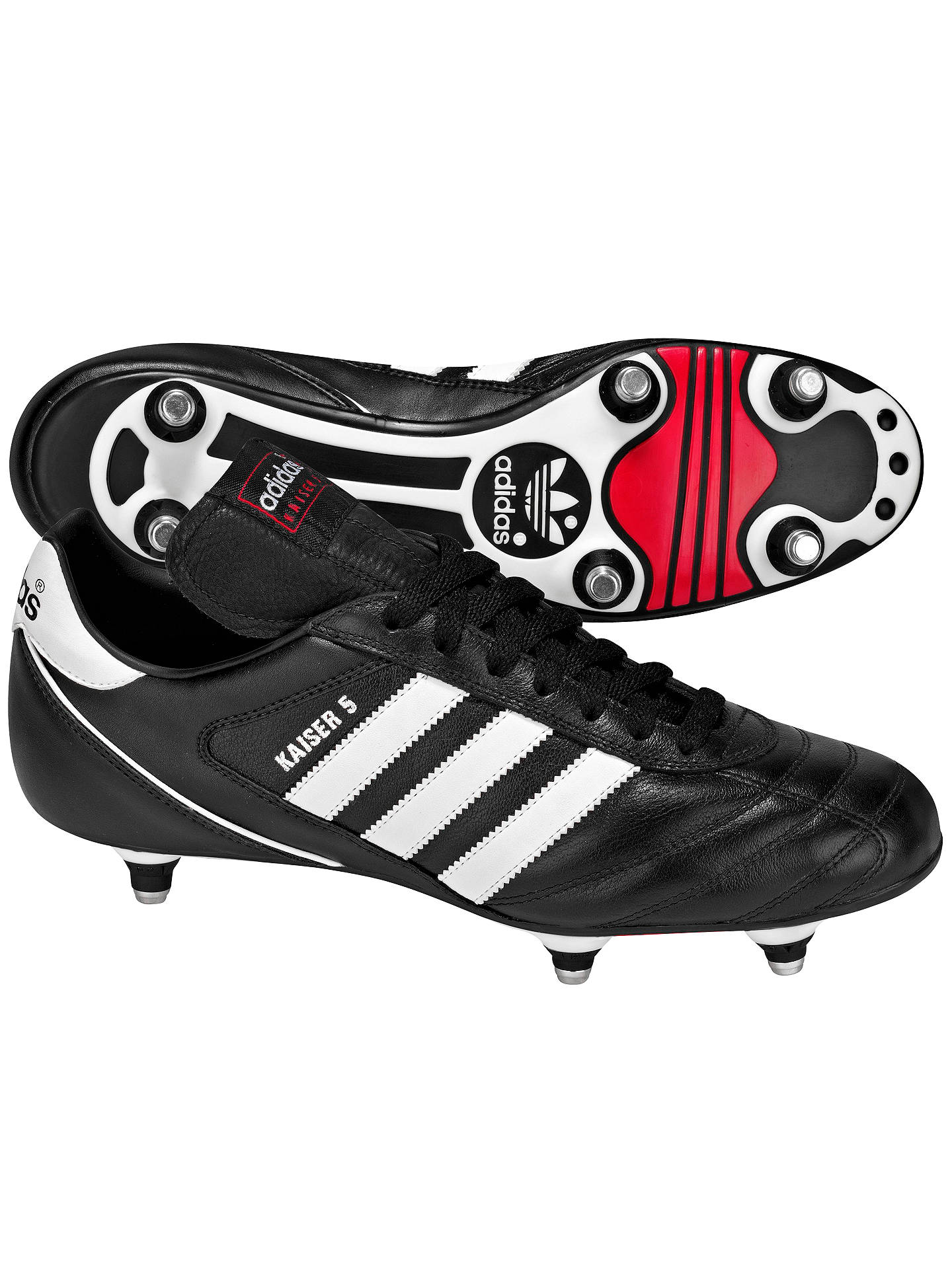 new styles d495b febe3 BuyAdidas Kaiser Cup Men s Football Boots, Black Running White, 6 Online at  johnlewis ...