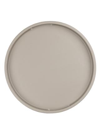John Lewis & Partners Round Painted Wood Tray, 36cm, Grey