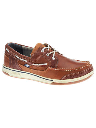 Buy Sebago Triton 3-Eyelet Leather Boat Shoes, British Tan/Brown, 7 Online at johnlewis.com