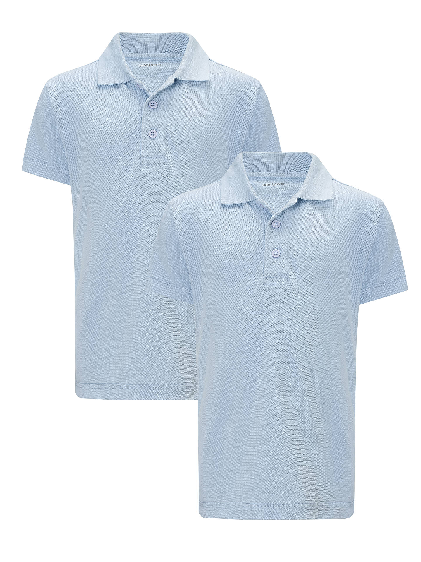 John Lewis School Polo Shirts Pack Of 2 Blue At John Lewis Partners