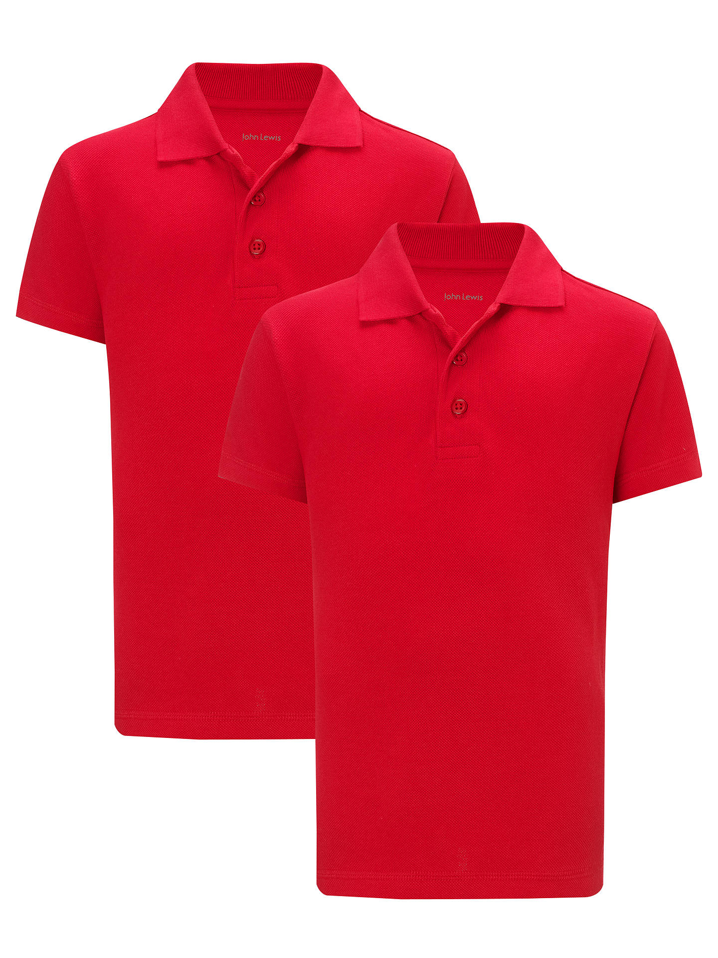 John Lewis School Polo Shirts Pack Of 2 Red At John Lewis Partners