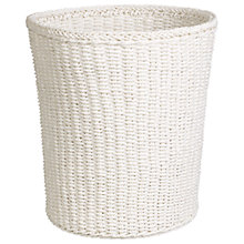 Buy John Lewis Paper Rope Wastepaper Bin, White Online at johnlewis.com