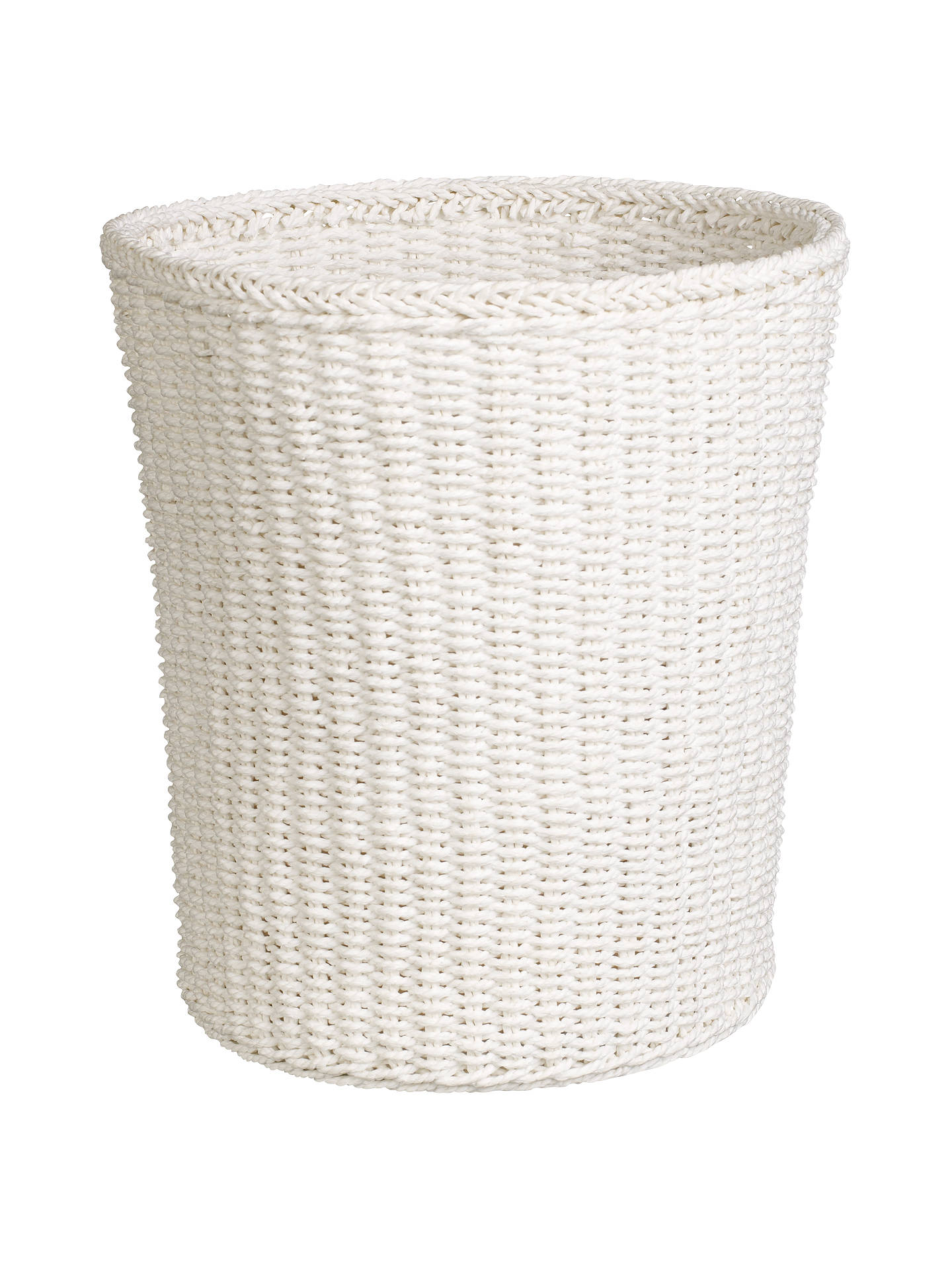 Buy John Lewis & Partners Paper Rope Waste Paper Bin, White Online at johnlewis.com
