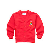 Buy Airyhall Primary School Girls' Cardigan, Red Online at johnlewis.com