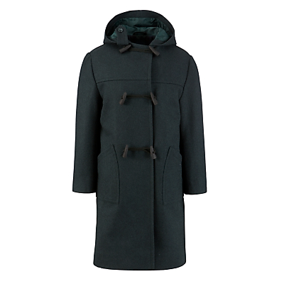 Product photo of School duffle coat bottle green