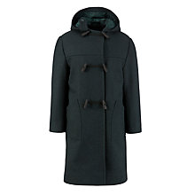 Buy School Duffle Coat, Bottle Green Online at johnlewis.com