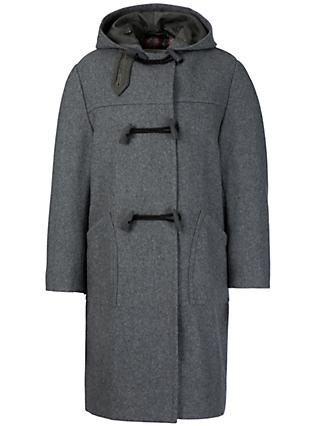School Unisex Duffle Coat, Grey
