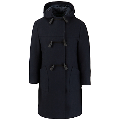 Product photo of School double breasted unisex duffle coat navy