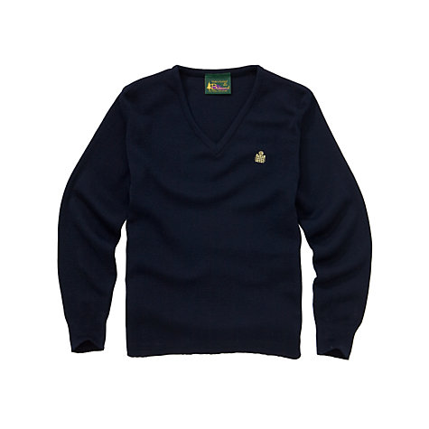 Buy Emanuel School Girls'  V-Neck Pullover Online at johnlewis.com