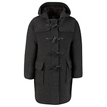 Buy Gloverall School Unisex Duffle Coat, Charcoal Online at johnlewis.com